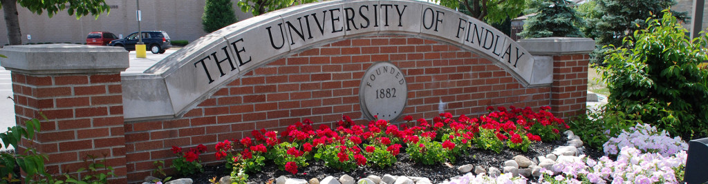 UNIVERSITY OF FINDLAY <br><span>  Findlay, Ohio    Founded in 1882</span>